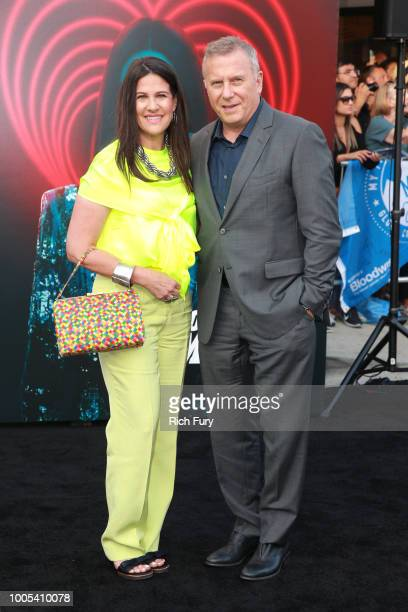 Paula Ravets and Paul Reiser attend the premiere of Lionsgate's 'The Spy Who Dumped Me' at Fox Village Theater on July 25 2018 in Los Angeles...