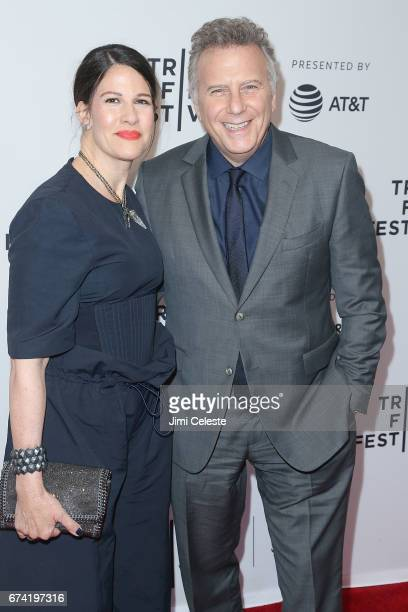 Paula Ravets and Paul Reiser attend the There'sJohnny Premiere 2017 Tribeca Film Festival at SVA Theatre 2 on April 27 2017 in New York City