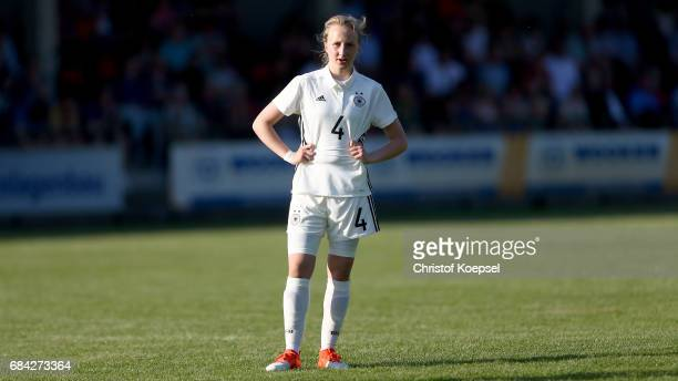 Paula Reimann of Germany is seen during the U15 girl's international friendly match between Germany and Netherlands at Getraenke Hoffmann Stadion on...
