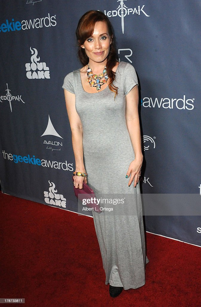 Paula Rhoades attends The 1st Annual Geekie Awards held at Avalon on August 18, 2013 in Hollywood, California.