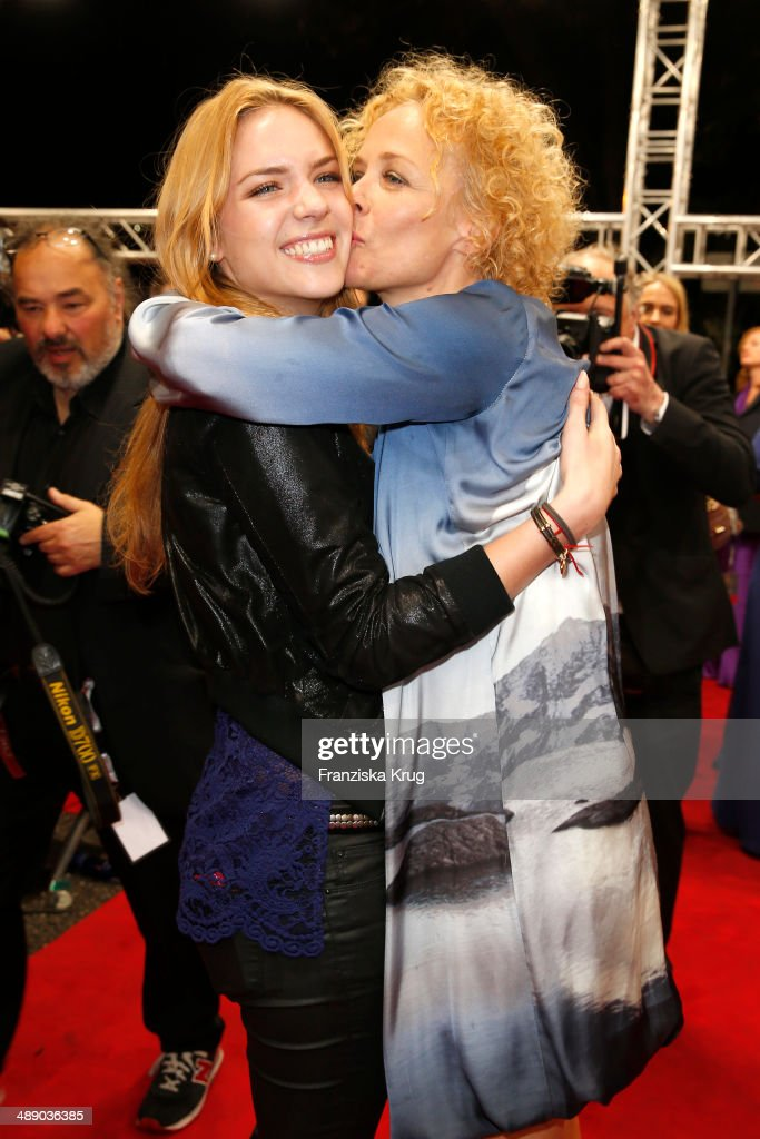 Paula Riemann and her mother Katja Riemann attend the Lola - German Film Award 2014 at Tempodrom on May 09, 2014 in Berlin, Germany.