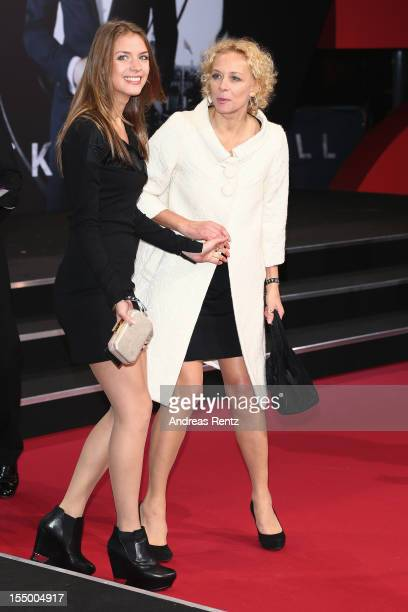Paula Riemann and her mother Katja Riemann attend the 'Skyfall' Germany premiere at Theater am Potsdamer Platz on October 30 2012 in Berlin Germany