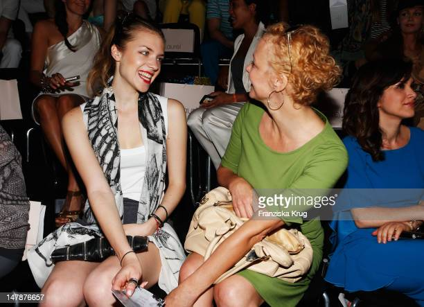Paula Riemann and Katja Riemann sit in the front row of the Laurel Show during the MercedesBenz Fashion Week Spring/Summer 2013 on July 5 2012 in...