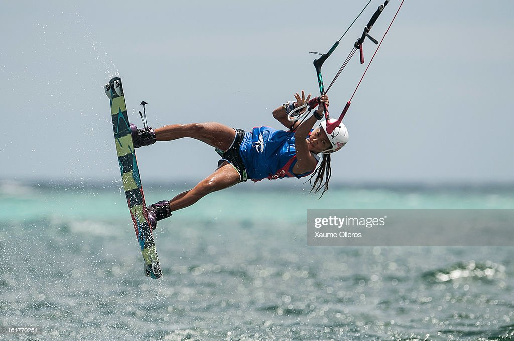 Paula Rosales of Philippines competes on freestyle during day two of the KTA at Boracay Island on March 27, 2013 in Makati, Philippines.