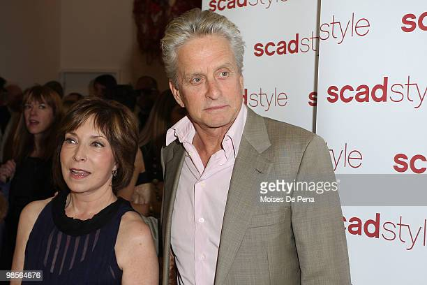Paula S. Wallace and Actor Michael Douglas attend the 2010 Savannah College of Art and Design Etoile Awards at James Cohan Gallery on April 19, 2010...