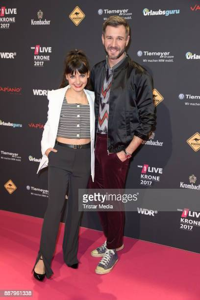 Paula Schramm and Jochen Schropp attend the 1Live Krone radio award at Jahrhunderthalle on December 7 2017 in Bochum Germany
