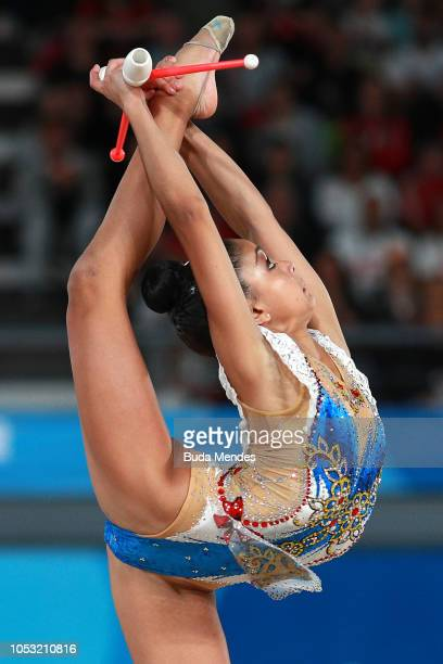 Paula Serrano of Spain competes in Individual AllAround Qualification Subdivision 2 Rotation 3during Day 4 of Buenos Aires 2018 Youth Olympic Games...