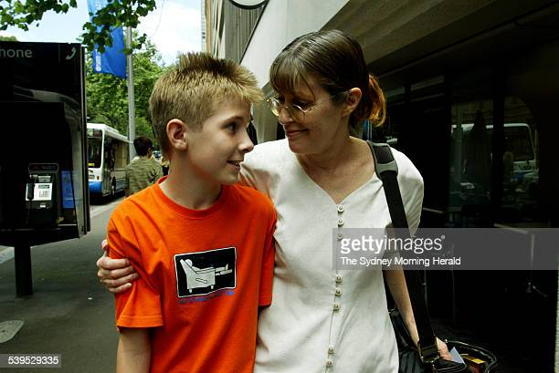 Paula Strong and her son Brandon during a break from the Administrative Appeals Tribunal this afternoon, 15 December 2004. SMH NEWS Picture by WADE...
