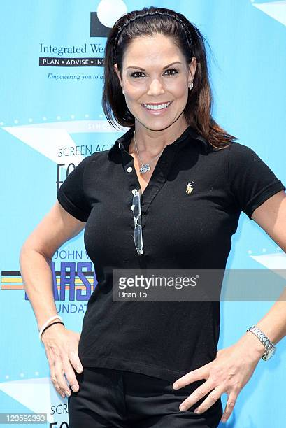 Paula Trickey attends 2nd annual SAG foundation golf classic at El Caballero Country Club on June 13 2011 in Tarzana California