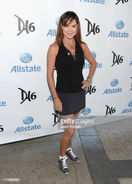 Paula Trickey attends the 2nd Annual Dennis Haysbert Humanitarian Foundation Celebrity Golf Classic at Lakeside Golf Club on August 26 2013 in...