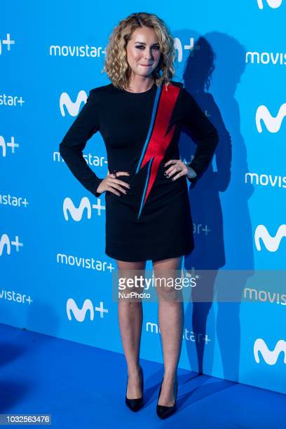 Paula Usero attends to blue carpet of presentation of new schedule of Movistar+ at Queen Sofia Museum in Madrid, Spain, on September 11, 2018.