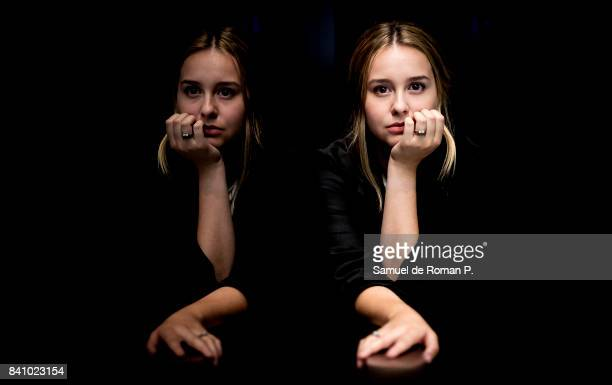 Paula Usero poses during a portrait session at 'Novotel Madrid Center' on August 29, 2017 in Madrid, Spain.