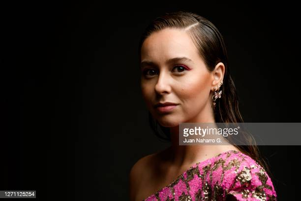 Paula Usero poses for a portrait session during 23rd Malaga Spanish Film Festival on August 21, 2020 in Malaga, Spain.