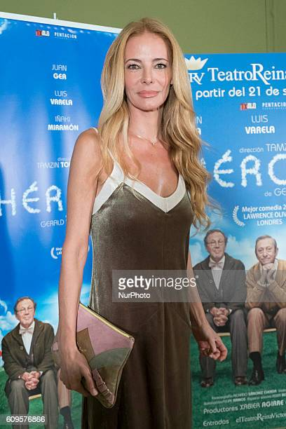 Paula Vazquez attend the premiere of quotHeroesquot at the Reina Victoria Theatre in Madrid Spain September 21 2016