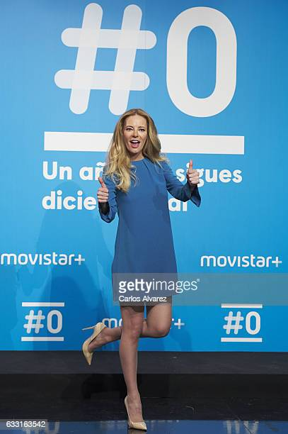 Paula Vazquez attends the photocall of 'Movistar channel' Fist anniversary at 'Movistar' Studios on January 31 2017 in Madrid Spain