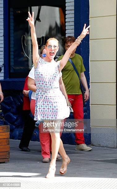 Paula Vazquez is seen on May 11 2015 in Madrid Spain