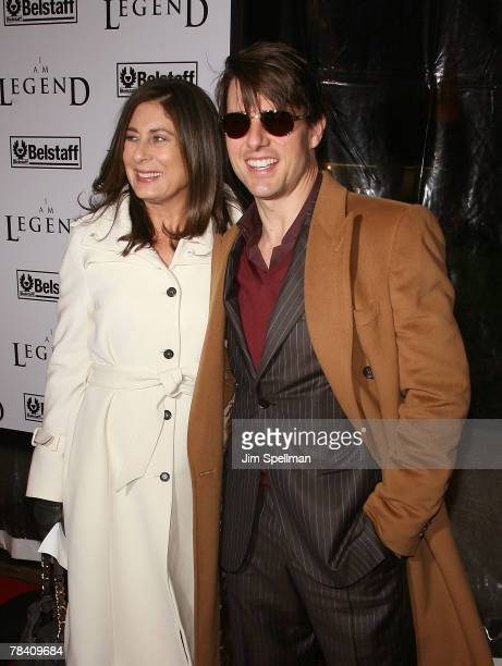 Paula Wagner and Actor Tom Cruise arrive at the I Am Legend New York Premiere at the Theater at Madison Square Garden on December 11 2007 in New York...
