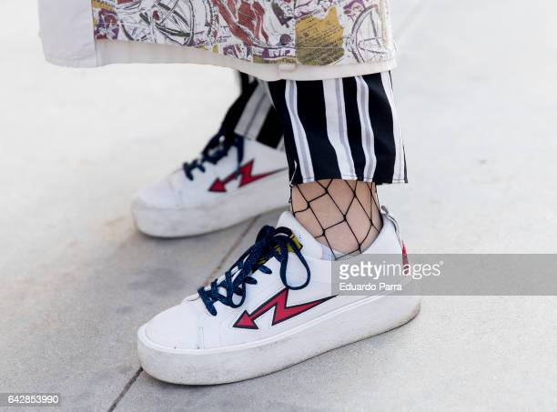 Paula wears Zara shoes during the Mercedes Benz Fashion Week Autumn / Winter 2017 at Ifema on February 19 2017 in Madrid Spain