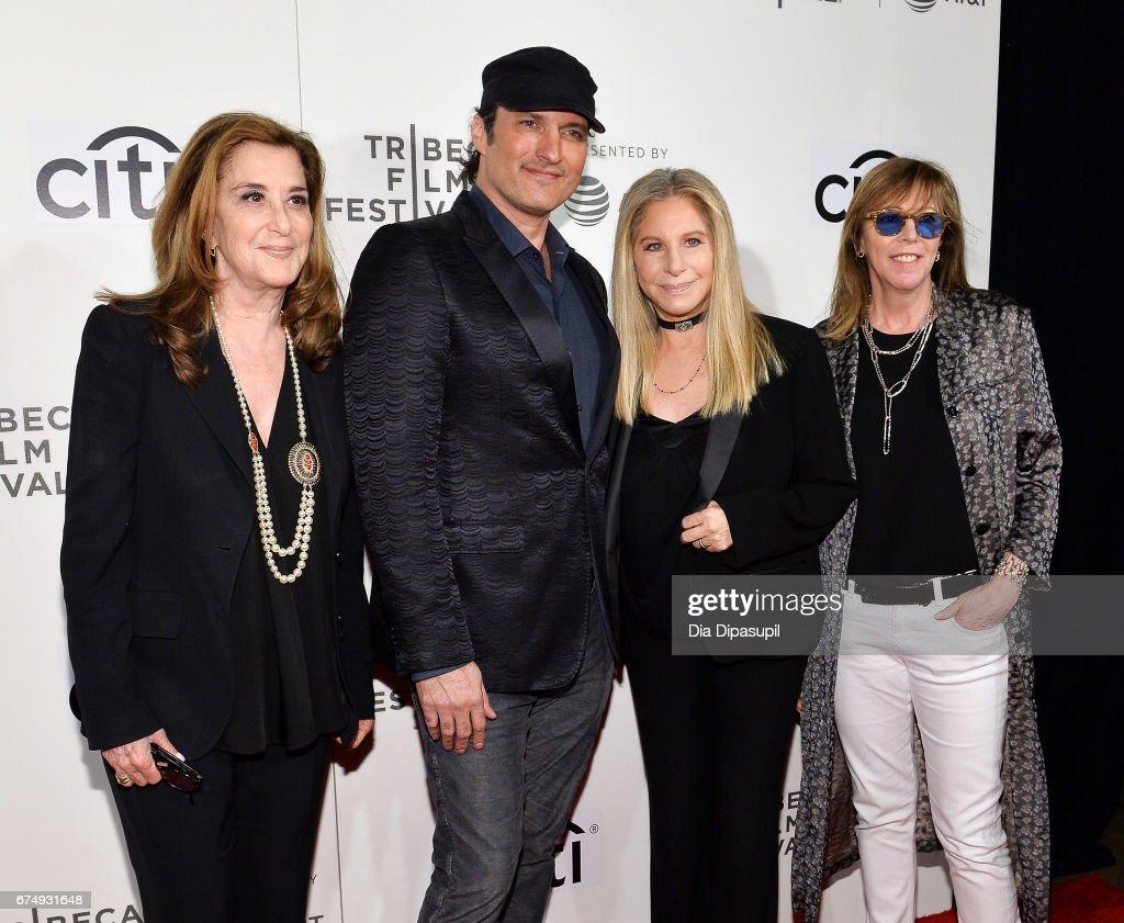 Paula Weinstein, Robert Rodriguez, Barbra Streisand, and Jane Rosenthal attend Tribeca Talks: Barbra Streisand with Robert Rodriguez during the 2017 Tribeca Film Festival at BMCC Tribeca PAC on April 29, 2017 in New York City.