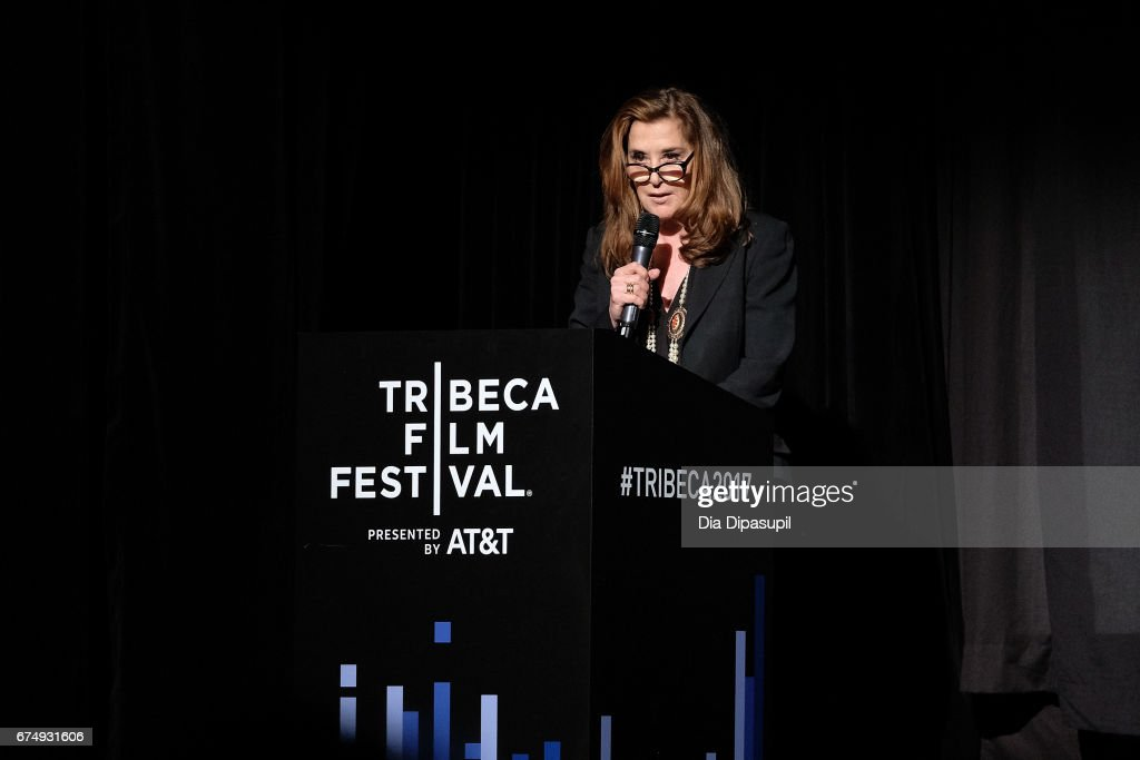 Paula Weinstein speaks onstage during Tribeca Talks: Barbra Streisand with Robert Rodriguez during the 2017 Tribeca Film Festival at BMCC Tribeca PAC on April 29, 2017 in New York City.