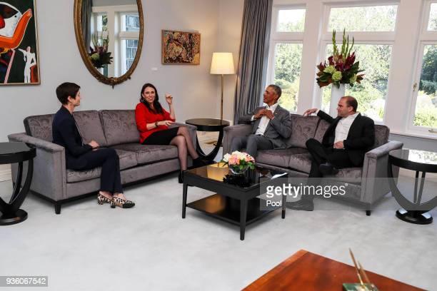 Paula Wilson policy advisor to Prime Minister Jacinda Ardern New Zealand Prime Minister Jacinda Ardern Barack Obama and Ben Rhodes advisor to Barack...