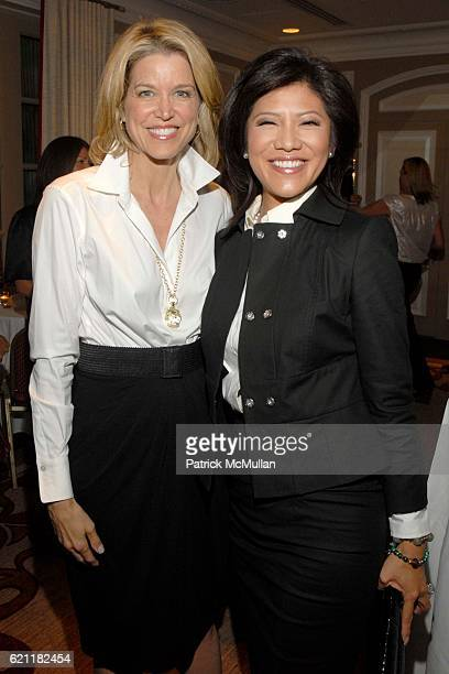 Paula Zahn and Julie Chen attend Ann And Andrew Tisch Invite You To Join Them In Marketing The Publication BREATHING THE FIRE By KIMBERLY DOZIER at...