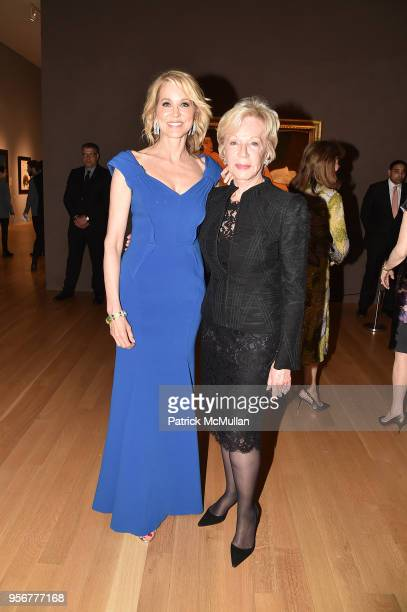 Paula Zahn and Nancy Corzine attend Alzheimer's Drug Discovery Foundation 12th Annual Connoisseur's Dinner at Sotheby's on May 3, 2018 in New York...