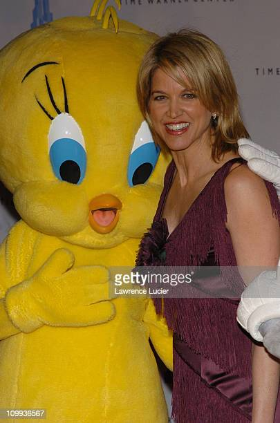 Paula Zahn and Tweety during Grand Opening Celebration of Time Warner Center at Time Warner Center in New York City, New York, United States.