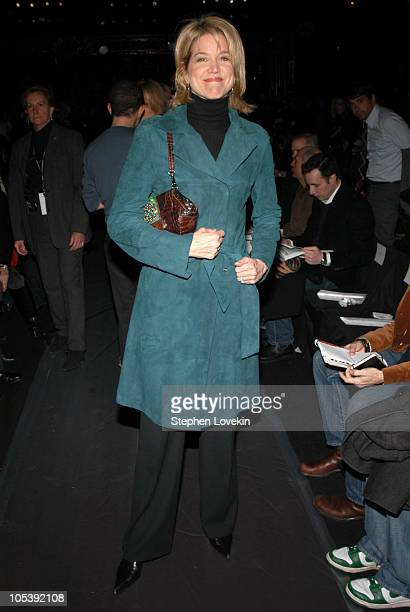 Paula Zahn during Olympus Fashion Week Fall 2005 Kenneth Cole Front Row and Backstage at Bryant Park in New York City New York United States