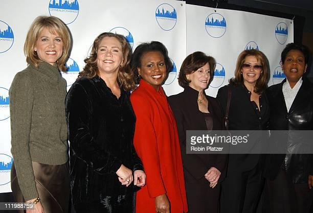 Paula Zahn Kathleen Turner Anita Hill Marcia Stein Lorraine Bracco and Roz Abrams