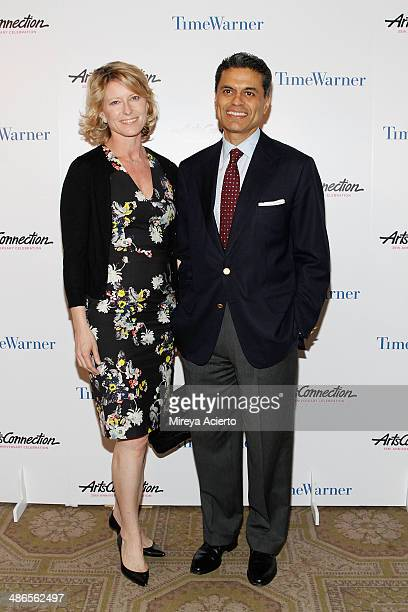 Paula Zakaria and journalist/news anchor Fareed Zakaria attend the ArtsConnection 35th Anniversary Spring Benefit at 583 Park Avenue on April 24 2014...