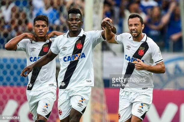 Paulao and Nene of Vasco da Gama celebrates a scored goal against Cruzeiro during a match between Cruzeiro and Vasco da Gama as part of Brasileirao...