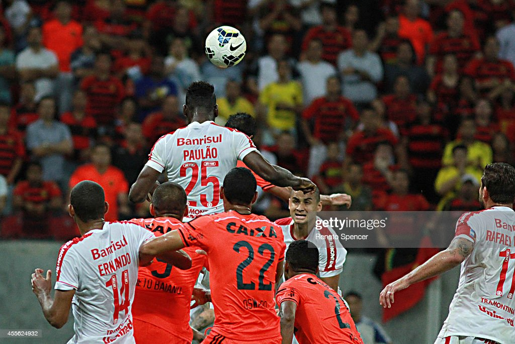Paulao Of Internacional Wins A Header With Neto Baiano Of News Photo Getty Images
