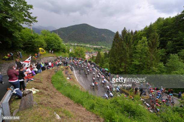 Paularo / Peloton / Landscape / during the 101st Tour of Italy 2018 Stage 14 a 186km stage from San Vito Al Tagliamento to Monte Zoncolan 1730m /...