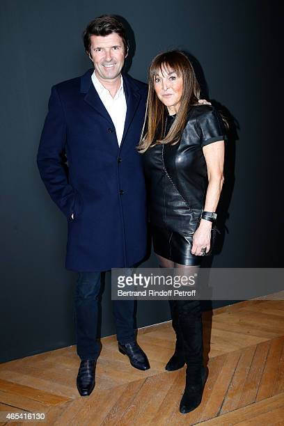 PaulEmmanuel Reiffers and Babeth Djian attend the Jeanne Lanvin Retrospective Opening Ceremony at Palais Galliera on March 6 2015 in Paris France