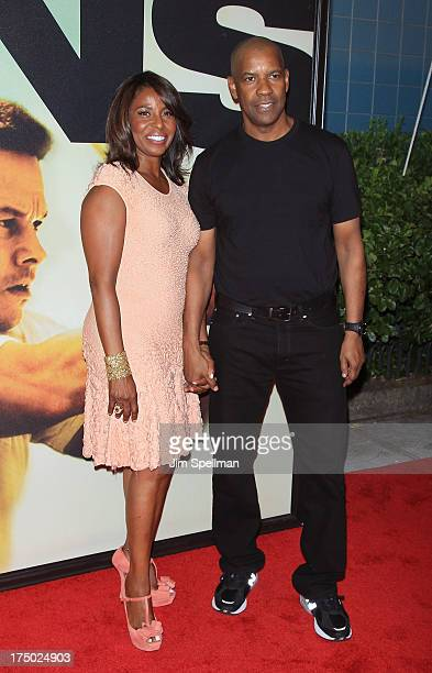 Pauletta Pearson Washington and actor Denzel Washington attend the 2 Guns New York Premiere at SVA Theater on July 29 2013 in New York City
