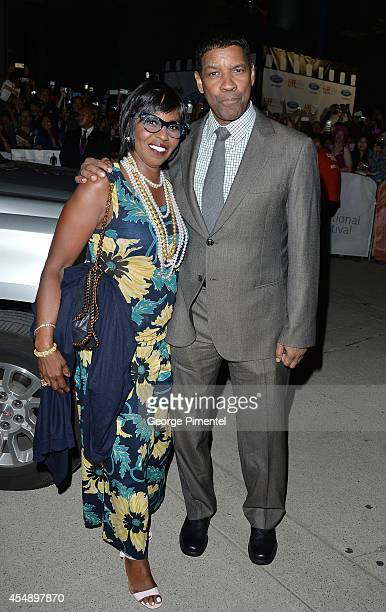 Pauletta Pearson Washington and Actor Denzel Washington attend The Equalizer premiere during the 2014 Toronto International Film Festival at Roy...