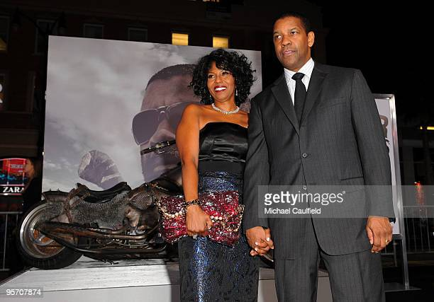 """Pauletta Washington and actor Denzel Washington arrive at """"The Book Of Eli"""" premiere held at Grauman's Chinese Theatre on January 11, 2010 in..."""