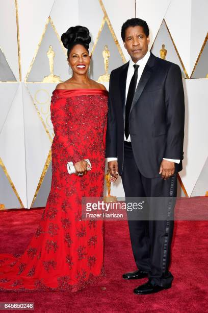 Pauletta Washington and actor Denzel Washington attend the 89th Annual Academy Awards at Hollywood Highland Center on February 26 2017 in Hollywood...