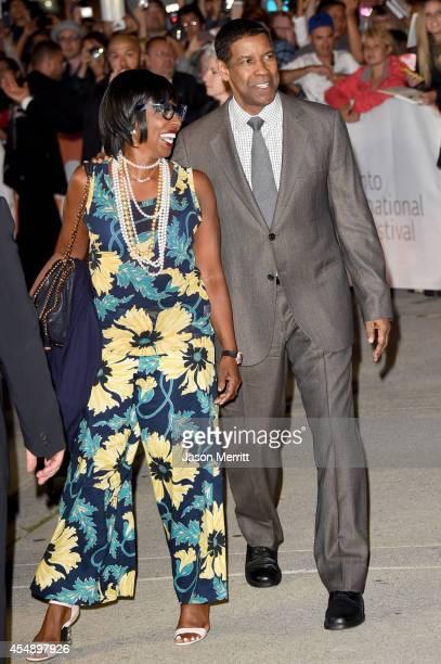 "Pauletta Washington and actor Denzel Washington attend ""The Equalizer"" premiere during the 2014 Toronto International Film Festival at Roy Thomson..."