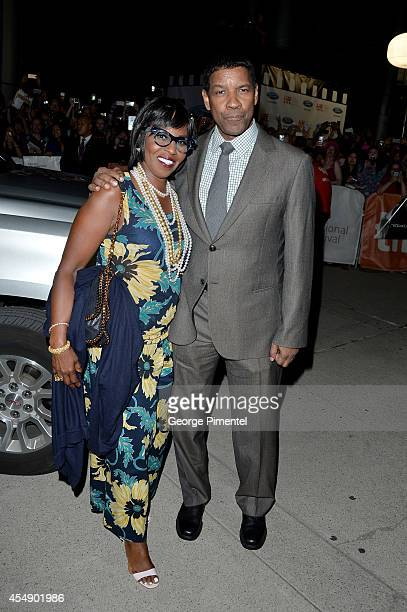 Pauletta Washington and Actor Denzel Washington attend The Equalizer premiere during the 2014 Toronto International Film Festival at Roy Thomson Hall...