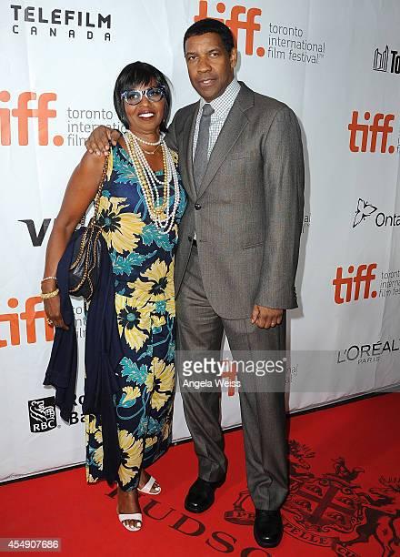 Pauletta Washington and actor Denzel Washington attend 'The Equalizer' premiere during the 2014 Toronto International Film Festival at Roy Thomson...