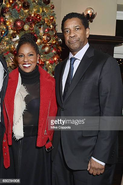 """Pauletta Washington and Denzel Washington attend the """"Fences"""" New York Screening - After Party at Tavern on the Green in New York City on December..."""