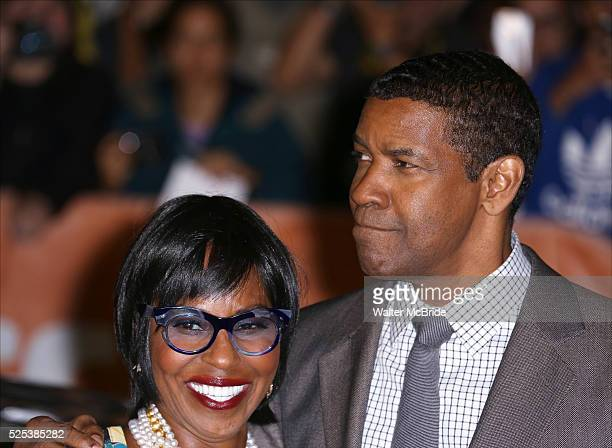 Pauletta Washington and Denzel Washington attends the Red Carpet arrivals for 'The Equalizer' at Roy Thomson Hall during the 2014 Toronto...