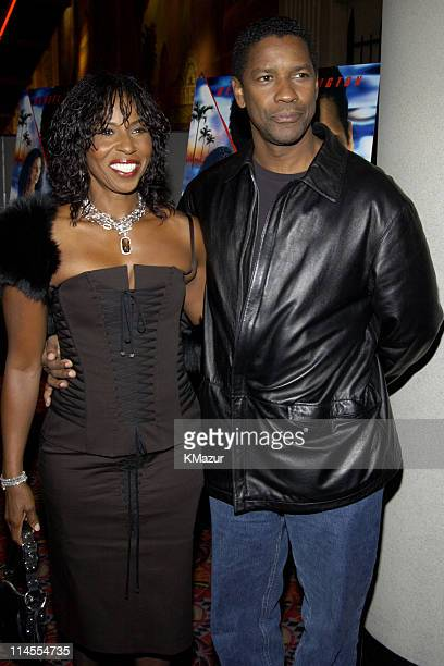 Pauletta Washington and Denzel Washington during Out of Time New York Premiere at Loews Cineplex Lincoln Square in New York City New York United...