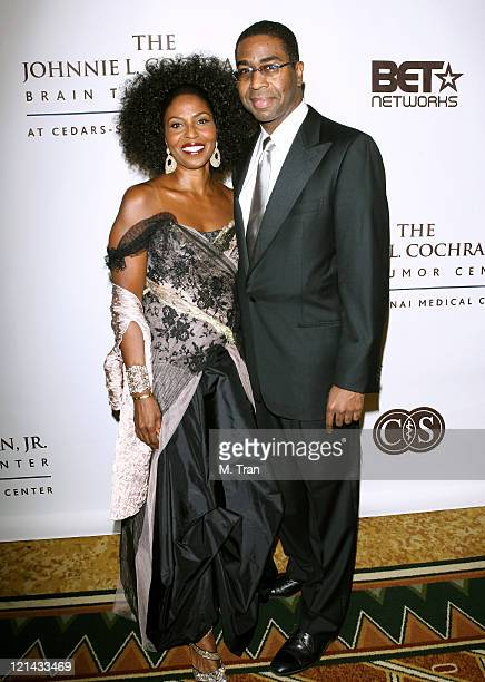 Pauletta Washington and Dr Keith L Black during Johnnie L Cochran Jr Brain Tumor Center Opening Gala Red Carpet at The Beverly Wilshire Hotel in...