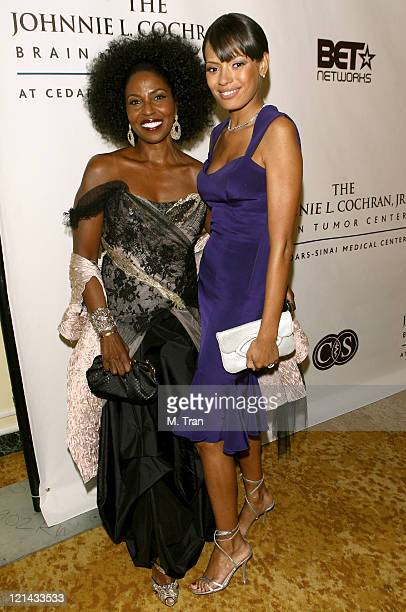 Pauletta Washington and Keisha Whitaker during Johnnie L. Cochran, Jr. Brain Tumor Center Opening Gala - Red Carpet at The Beverly Wilshire Hotel in...