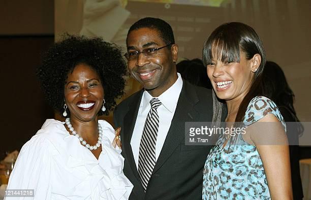 Pauletta Washington, Dr. Keith L. Black and Keisha Whitaker