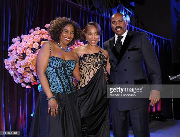 Pauletta Washington Marjorie Harvey and comedian Steve Harvey attend the 2nd annual Steve Harvey Foundation Gala at Cipriani Wall Street on April 4...