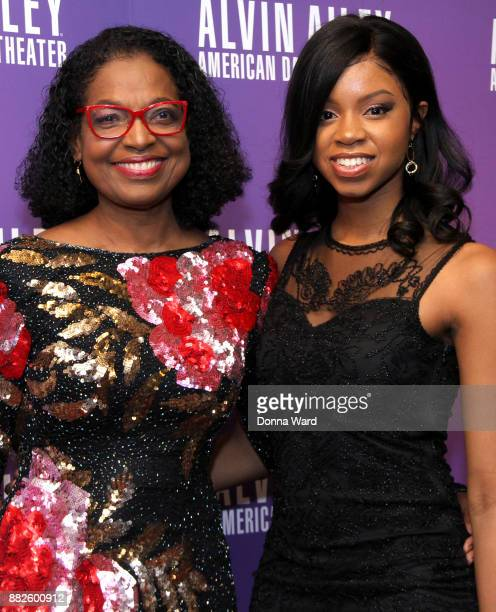 Paulette Bradnock and daughter attend Alvin Ailey's 2017 Opening Night Gala at New York City Center on November 29 2017 in New York City